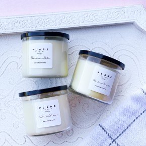 3 Wick Flare Candles - 16 oz