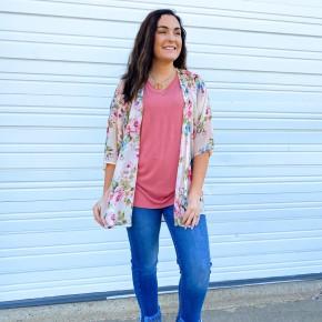 'Rosé All Day' Kimono