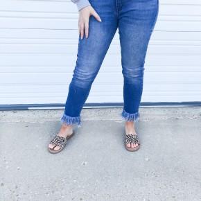 High-Rise Skinny Jean w/ Fringe