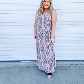 'Slither Into Style' Maxi Dress