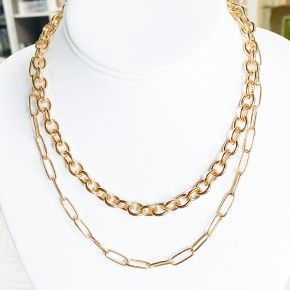 Karla DoubleLayer Link Necklace