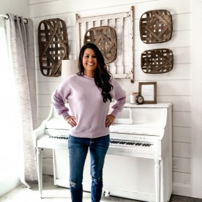 Lavender Waffle Sweater