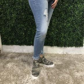 Frayed Ankle Skinny-Kancan