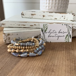 Gray and Gold Glam Bracelet