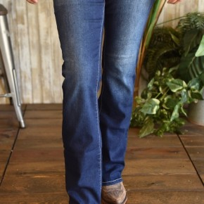 Royalty Mid Rise Boot Cut Jeans