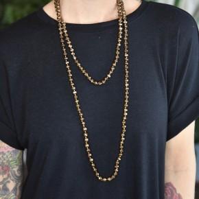 Bronze Glass Bead Necklace