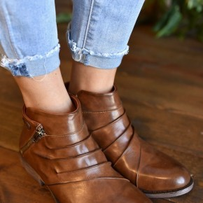 Brown Tapped Bootie