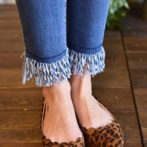 Leopard Scalloped Flats