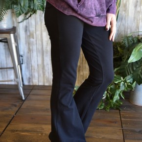 Black Cotton Yoga Pants