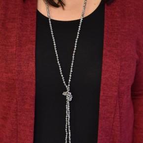 Hematite Glass Bead Necklace