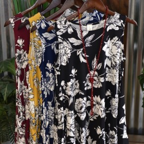 Floral Swing Tunic with Pockets