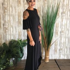 Black High Lo Maxi Dress