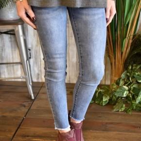 L & B Mid Rise Ankle Super Skinny Jeans