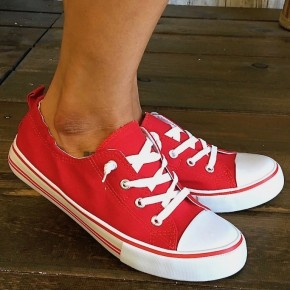 Red Sporty Sneakers