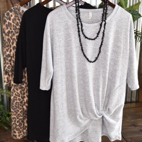Boat Neck Knot Top