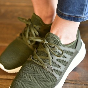 Olive Dash Sneakers