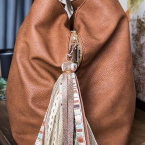 Desert Glamping Tassel Keychain