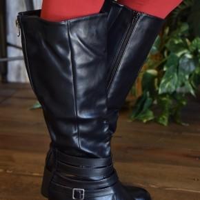 Black Distressed Supreme Tall Boots