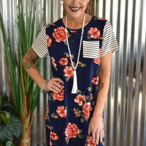 Peony for Your Thoughts T-Shirt Dress