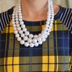 White 3 Strand Necklace