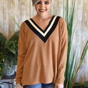 Mustard V Neck Sweater