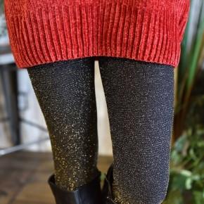 Black & Gold Glitter Leggings