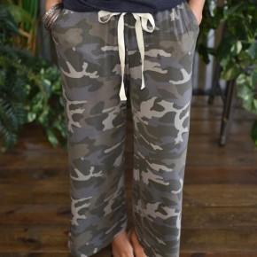 Camo Cropped Lounge Pants