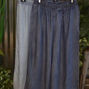 Denim Wide Leg Cropped Pants