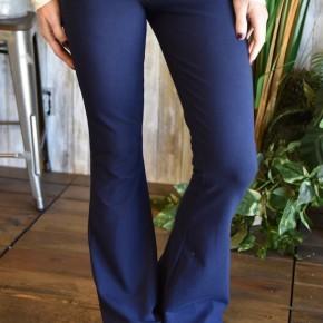 Navy Cotton Yoga Pants