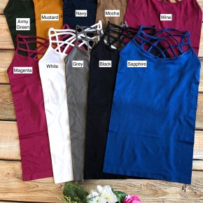 (10 colors) Criss Cross Cami