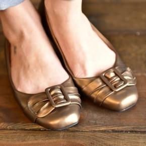 Bronze Mony Flats