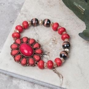 Stone Blossom Flower Bracelet