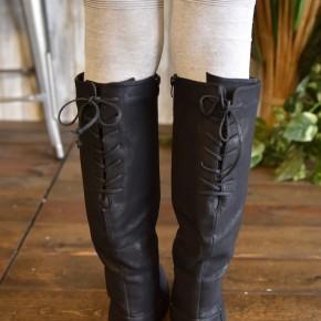 Black Distressed Ventura Tall Boots