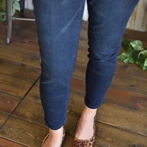 Royalty Dark Wash Ankle Slit Jeans