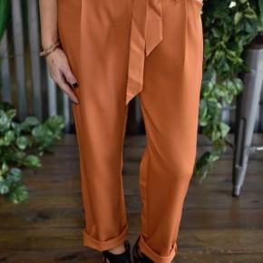 Orange Belted Pants