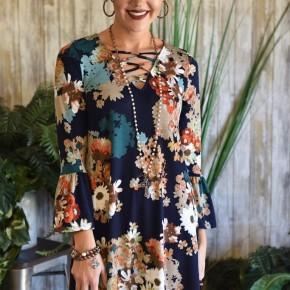 Criss Cross Floral Dress