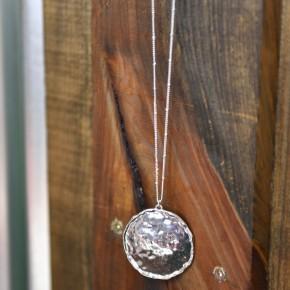 Hammered Round Necklace