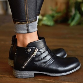 Black Tapped Booties