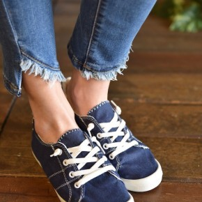 Navy Canvas Sneakers
