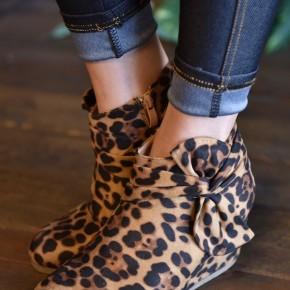 Leopard Skye Booties