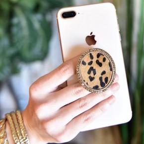 Leopard Circle Pendant Phone Grip/Stand