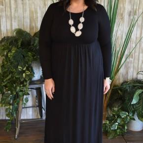 Black L/S Maxi Dress