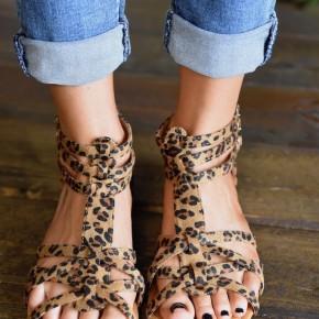 CLEARANCE Leopard Mavis Sandals
