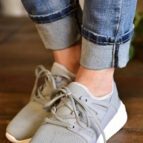 Grey Dash Sneakers