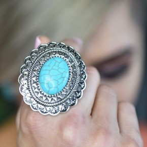 Boho Mandala Flower Ring