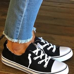 Black Sporty Sneakers