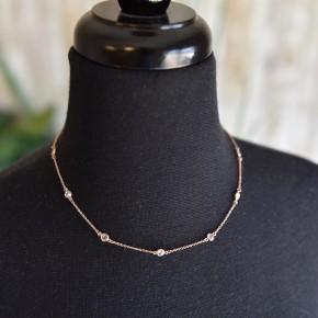 Rose Gold Dainty Gems Necklace