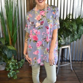 Lilac Floral Tunic