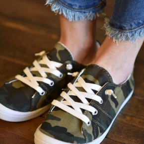Camo Canvas Sneakers