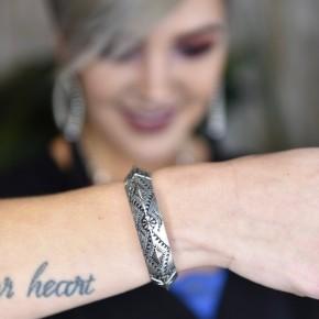 Silver Vintage Stretch Bracelet